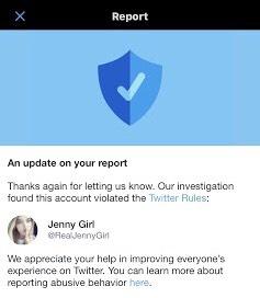 @RealJennyGirl aka Jennifer Morrell loses Twitter