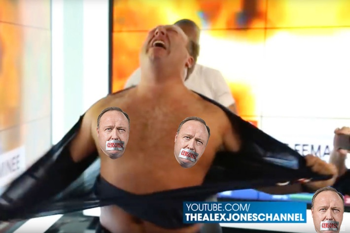Alex Jones of InfoWARS... CENSORED!