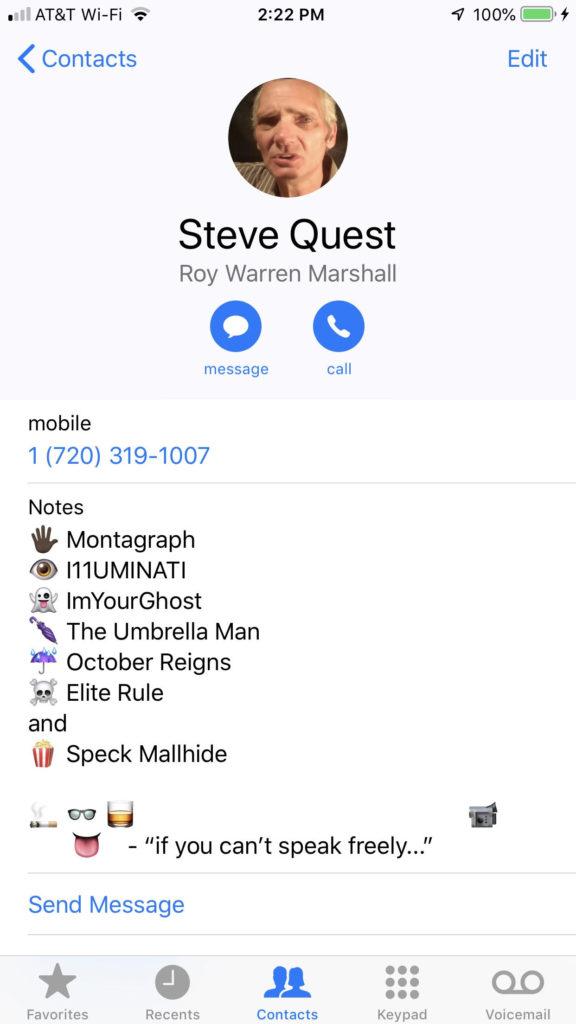 Montagraph aka Steve Quest 720-319-1007