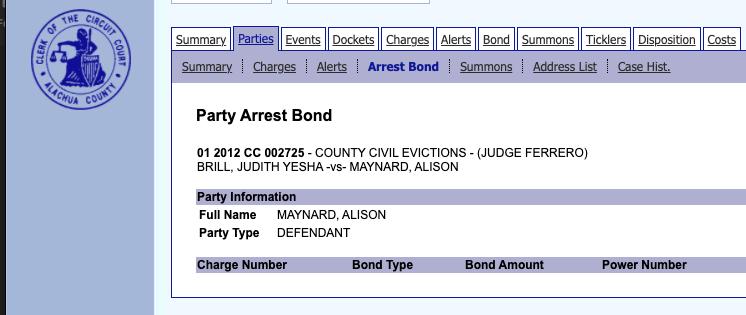 Alison Maynard arrest bond